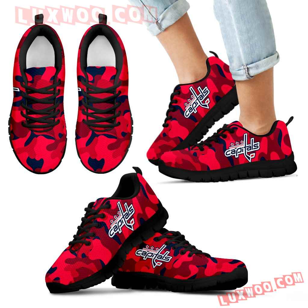 Military Background Energetic Washington Capitals Sneakers