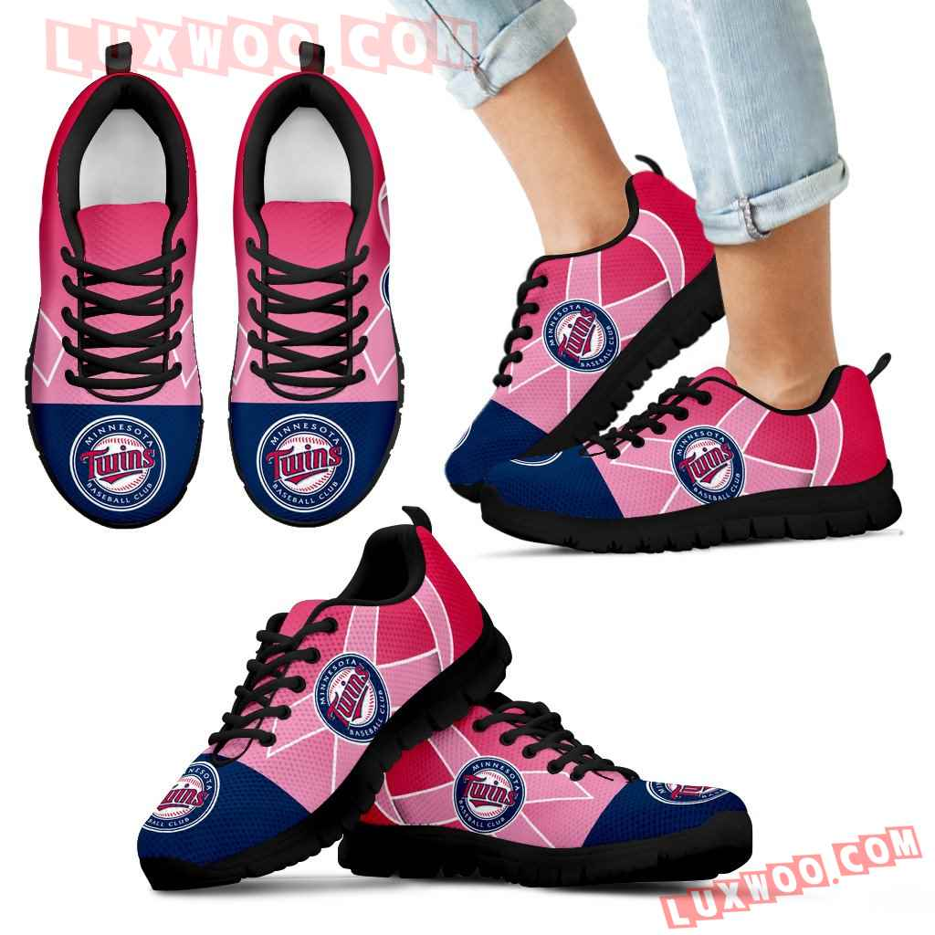 Minnesota Twins Cancer Pink Ribbon Sneakers