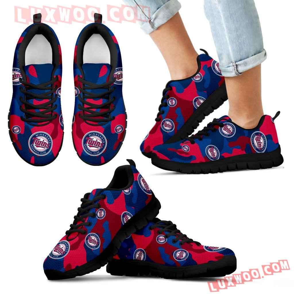 Minnesota Twins Cotton Camouflage Fabric Military Solider Style Sneakers