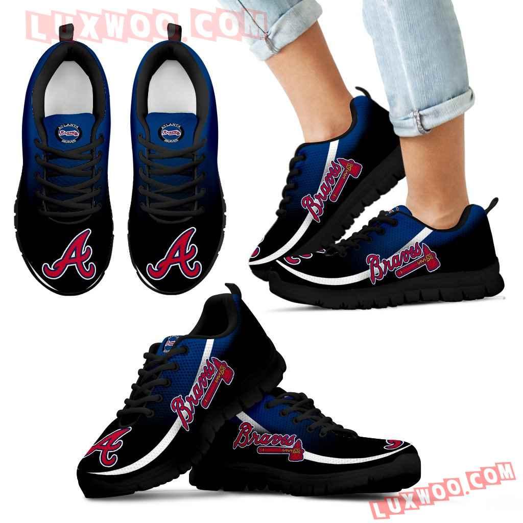 Mystery Straight Line Up Atlanta Braves Sneakers