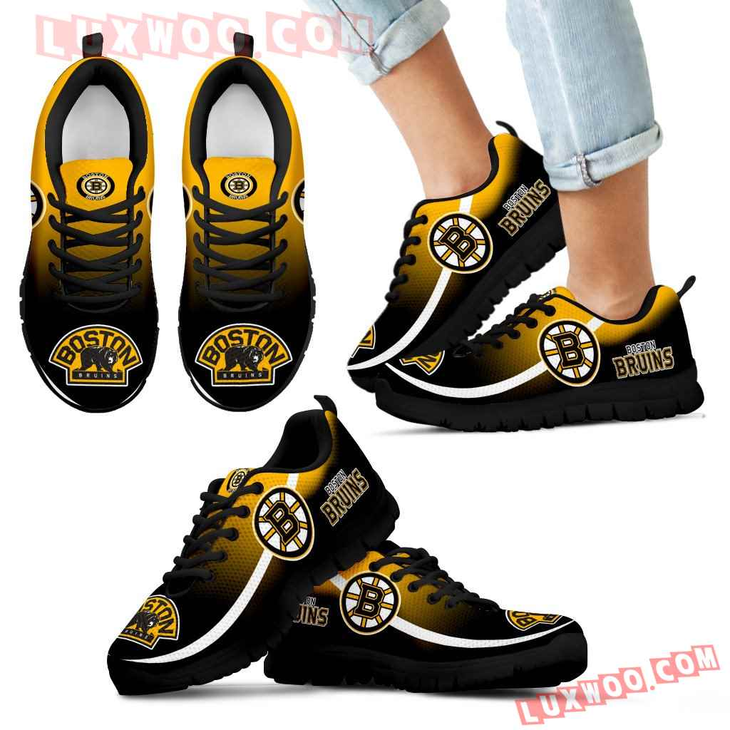 Mystery Straight Line Up Boston Bruins Sneakers