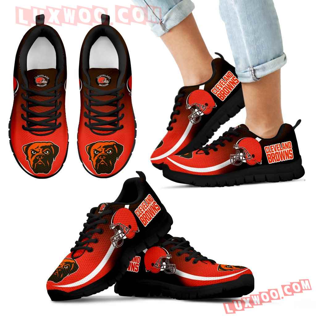 Mystery Straight Line Up Cleveland Browns Sneakers