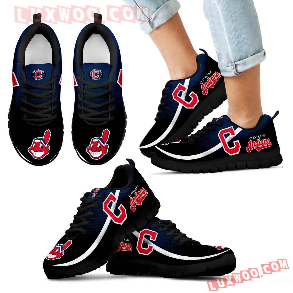 Mystery Straight Line Up Cleveland Indians Sneakers