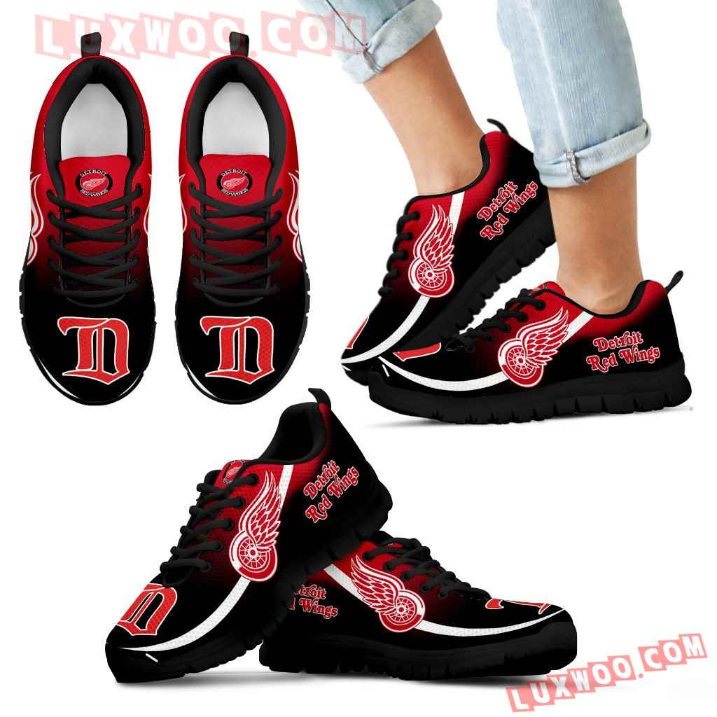 Mystery Straight Line Up Detroit Red Wings Sneakers