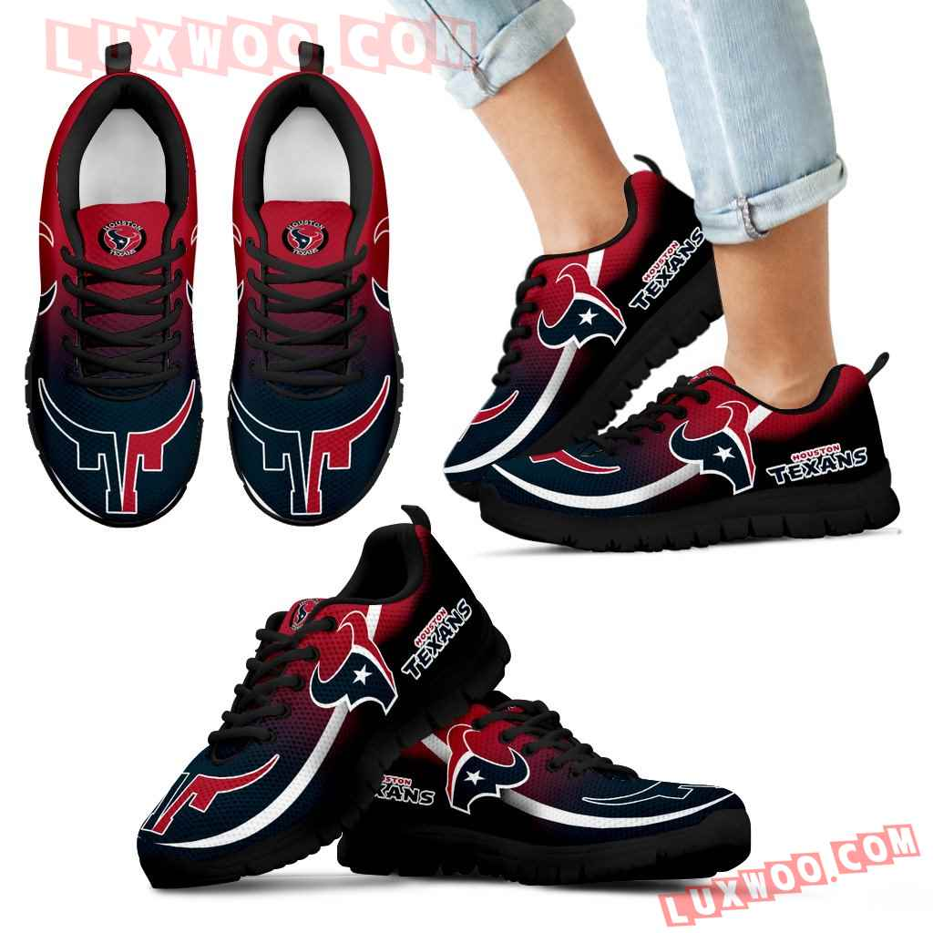Mystery Straight Line Up Houston Texans Sneakers