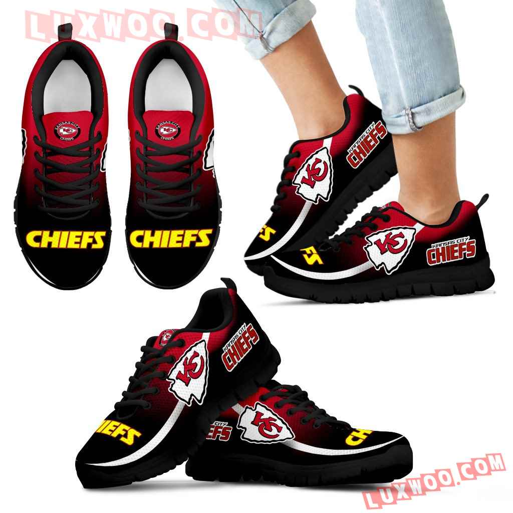 Mystery Straight Line Up Kansas City Chiefs Sneakers