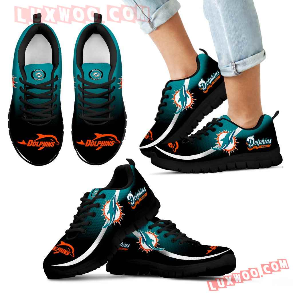 Mystery Straight Line Up Miami Dolphins Sneakers