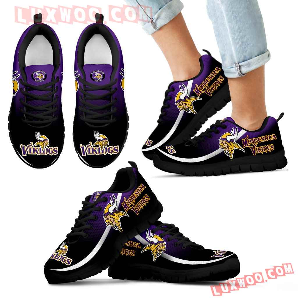 Mystery Straight Line Up Minnesota Vikings Sneakers