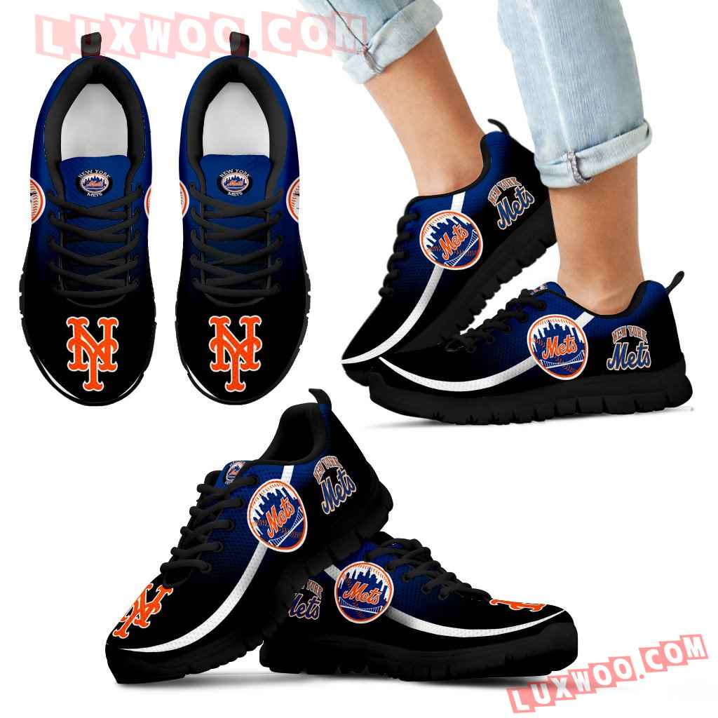 Mystery Straight Line Up New York Mets Sneakers