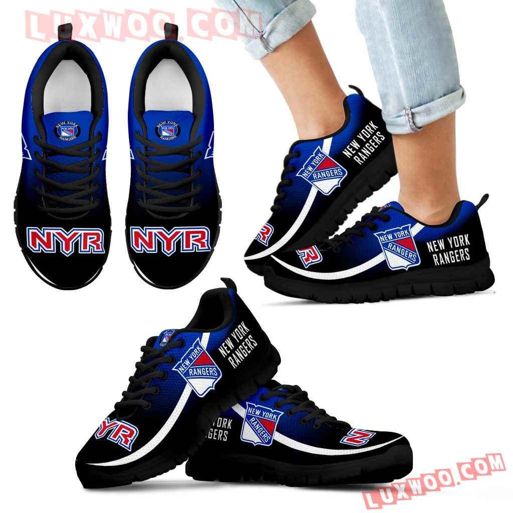 Mystery Straight Line Up New York Rangers Sneakers