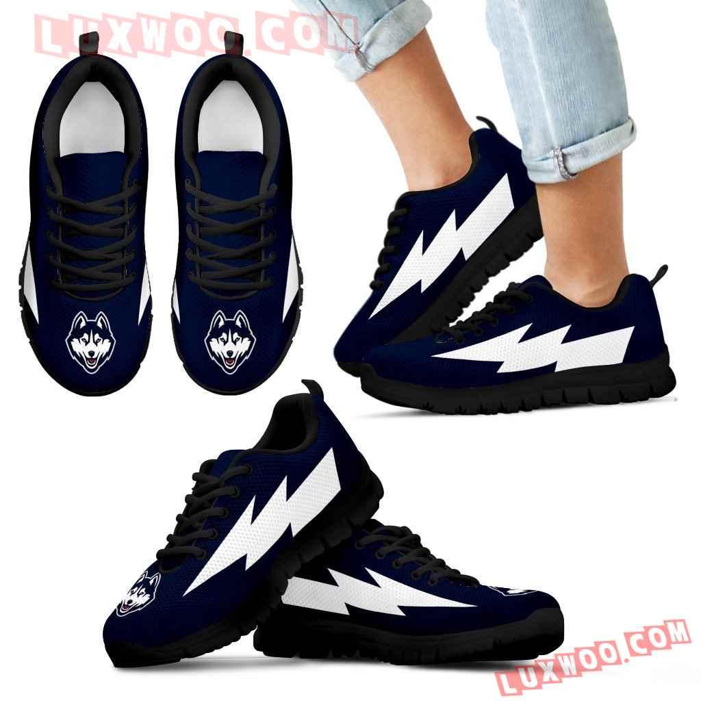 Nice Style Connecticut Huskies Sneakers Thunder Lightning Amazing Logo