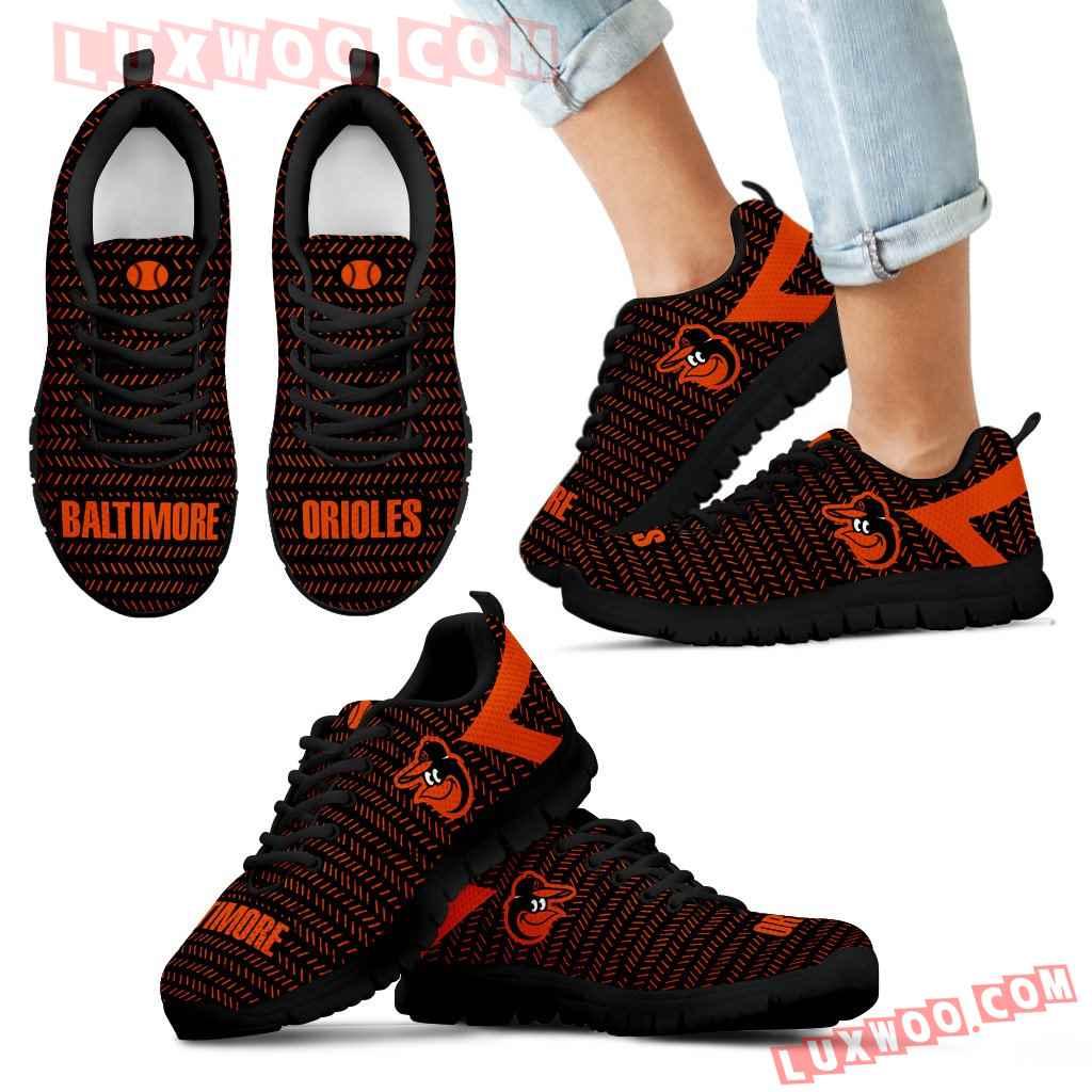 Pattern Logo Slide In Line Baltimore Orioles Sneakers