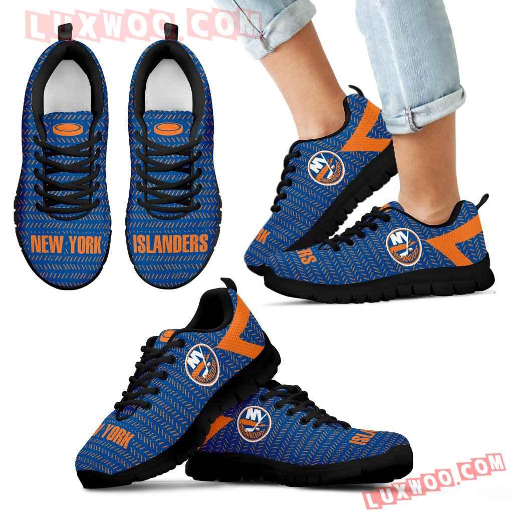 Pattern Logo Slide In Line New York Islanders Sneakers