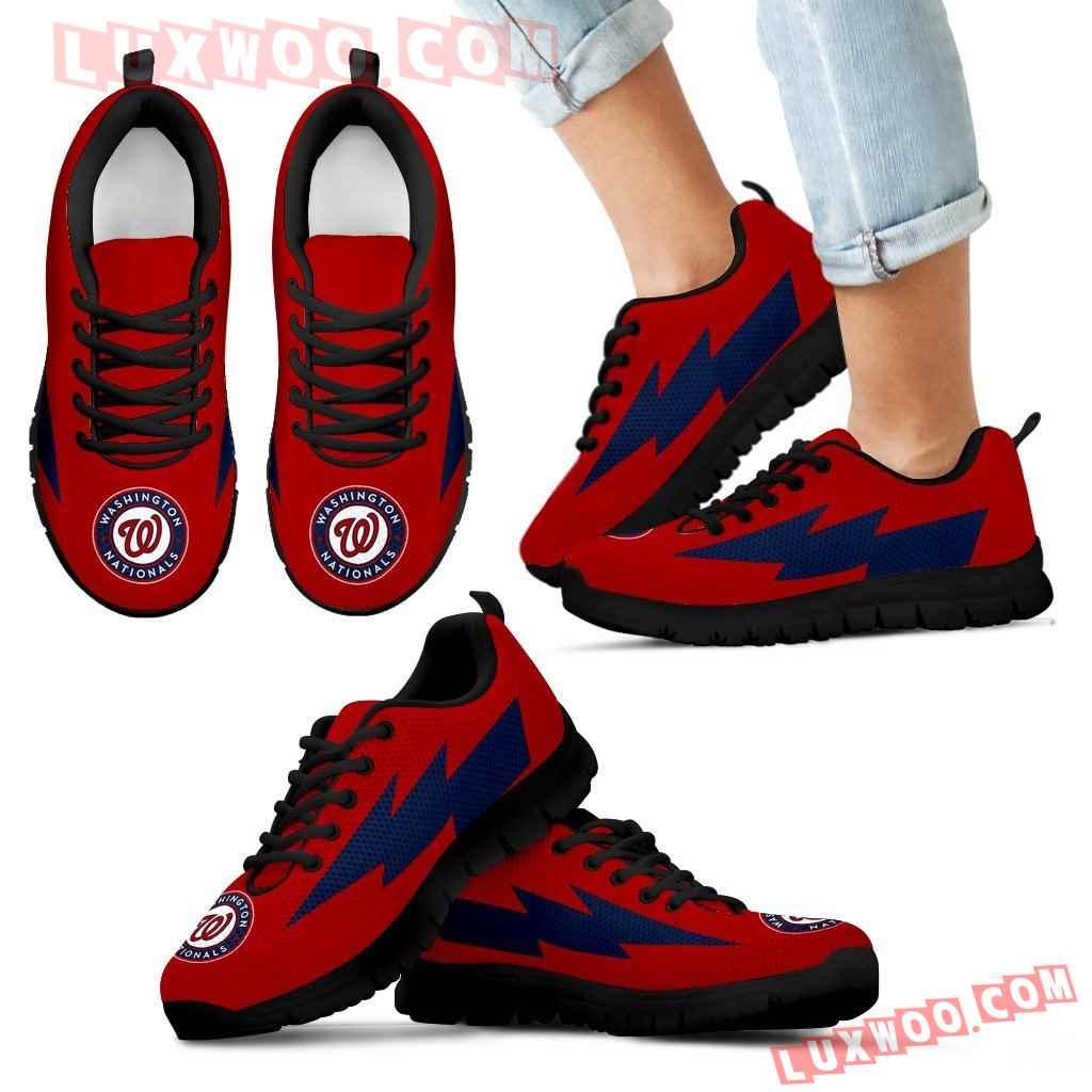 Pretty Washington Nationals Sneakers Thunder Lightning Amazing Logo