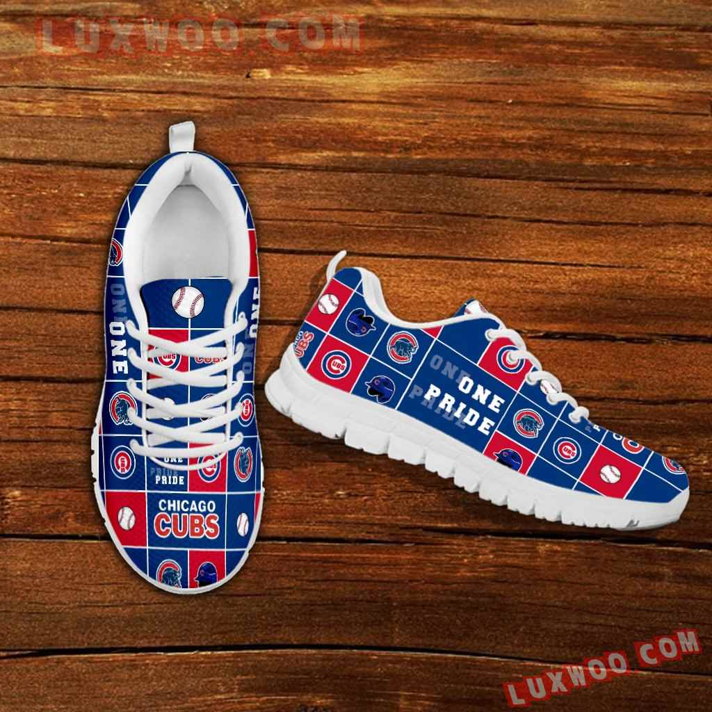 Pride Flag Chicago Cubs Sneakers