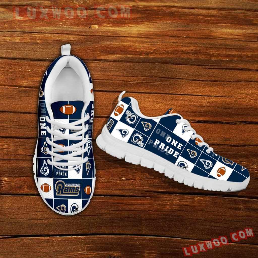 Pride Flag Los Angeles Rams Sneakers