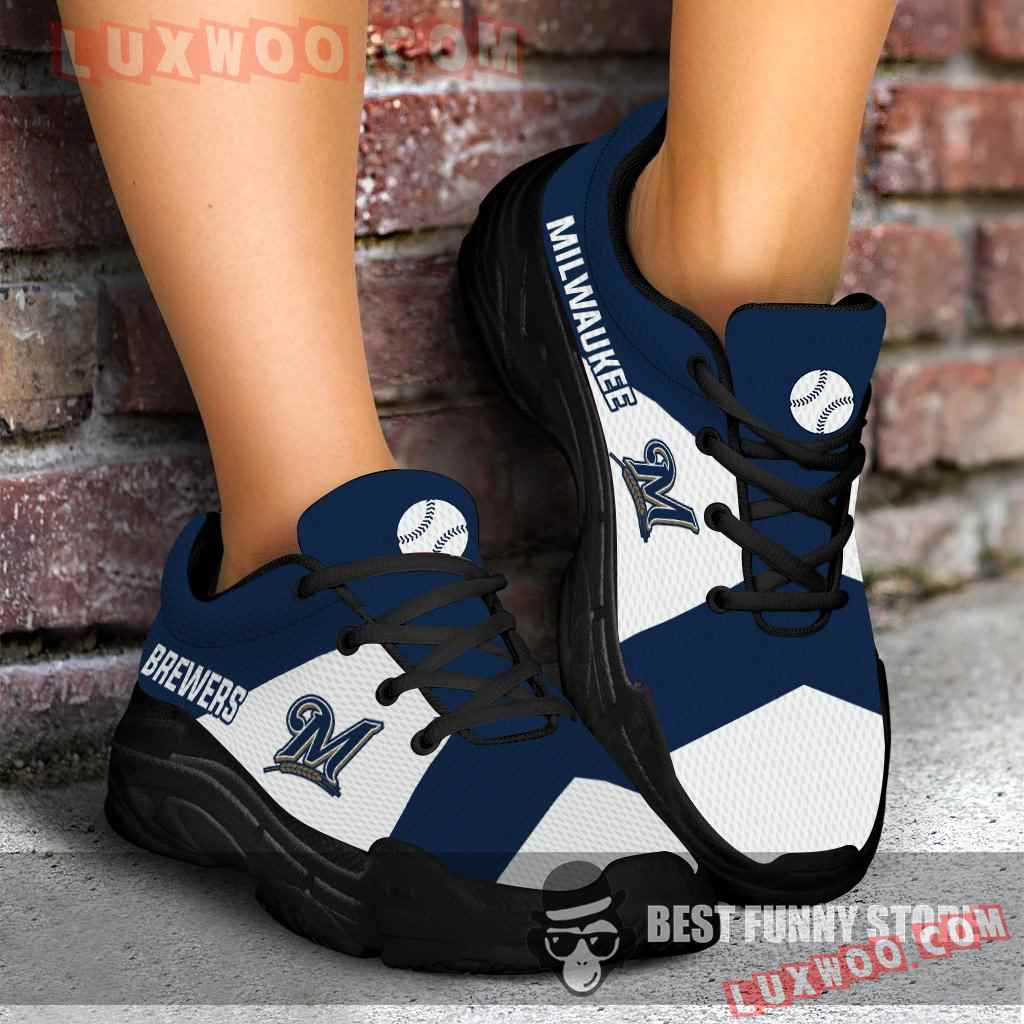 Pro Shop Logo Milwaukee Brewers Chunky Sneakers