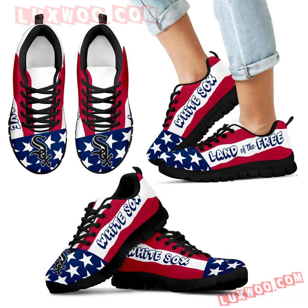 Proud Of American Flag Three Line Chicago White Sox Sneakers