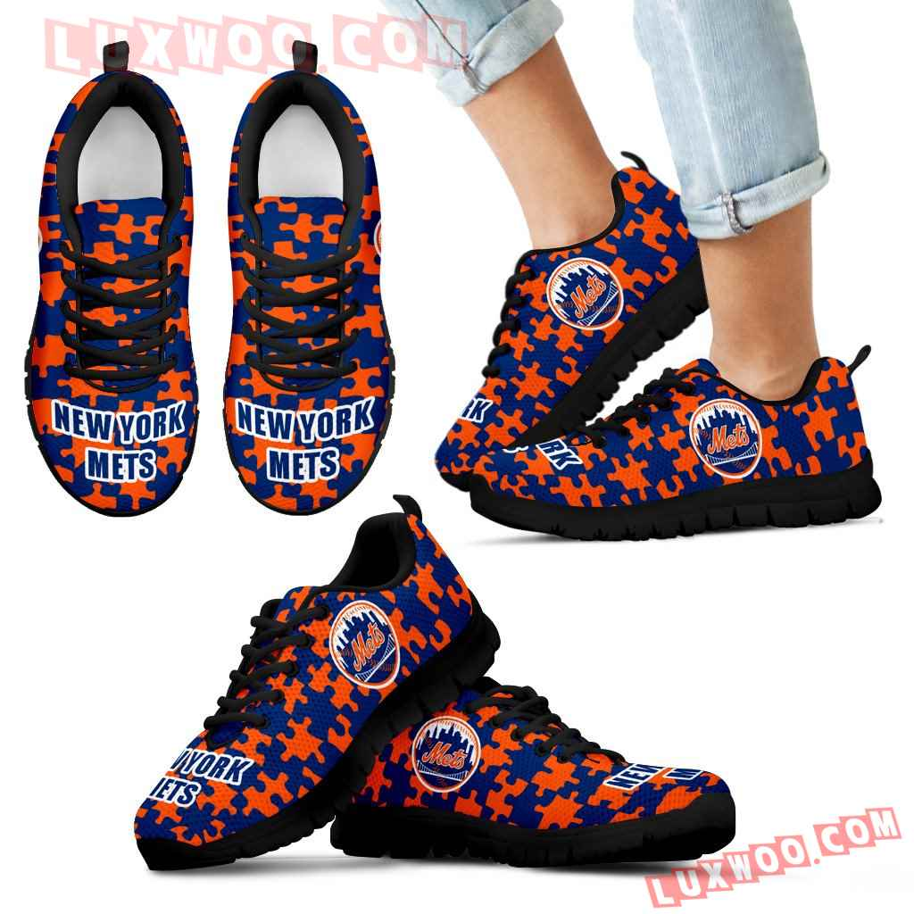 Puzzle Logo With New York Mets Sneakers