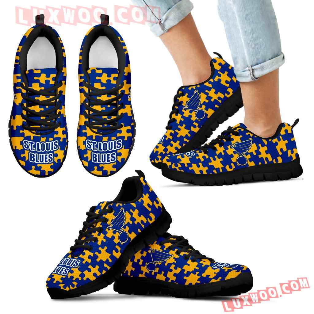 Puzzle Logo With St Louis Blues Sneakers