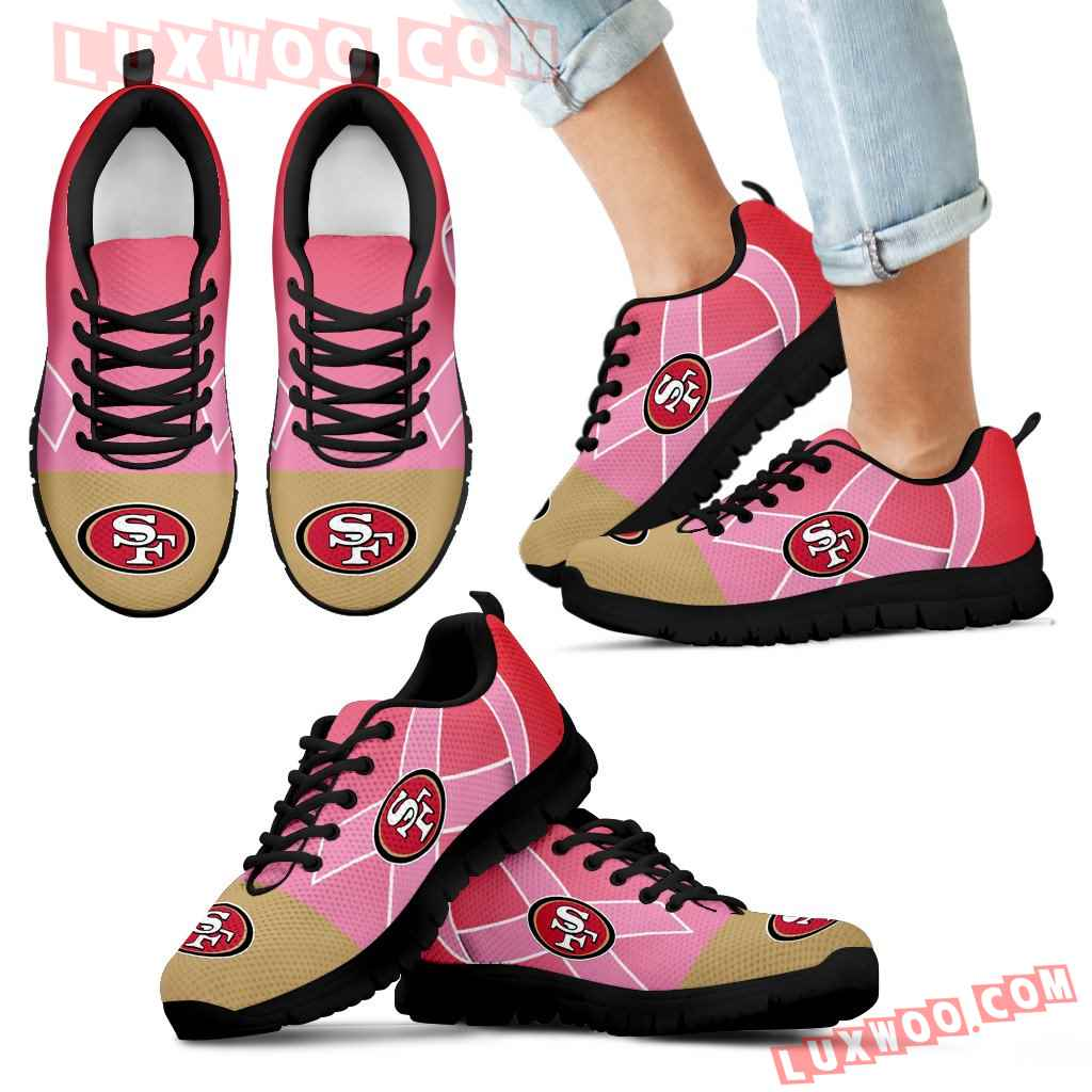 San Francisco 49ers Cancer Pink Ribbon Sneakers