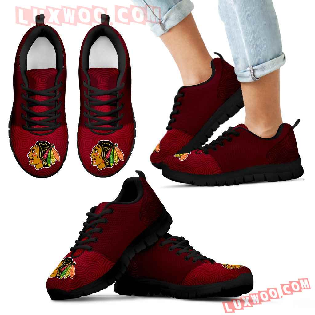 Seamless Line Magical Wave Beautiful Chicago Blackhawks Sneakers