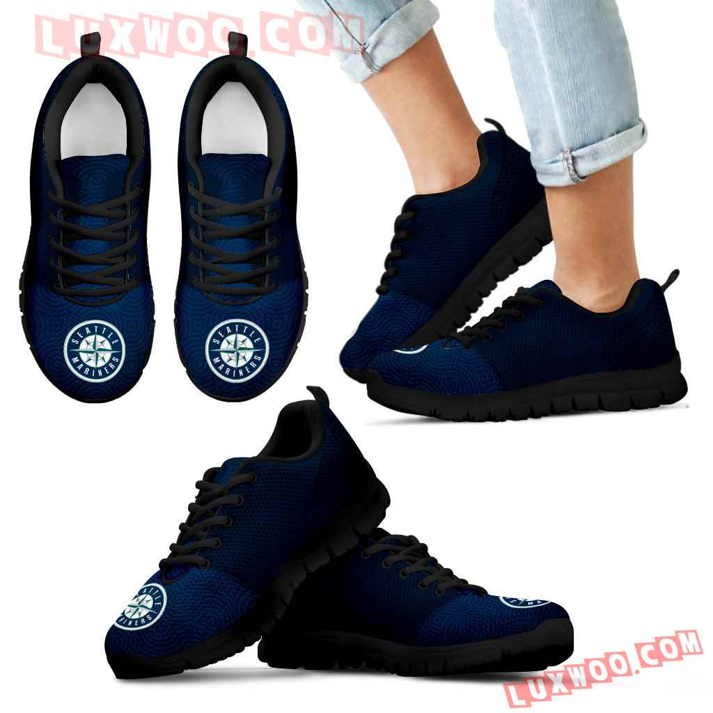 Seamless Line Magical Wave Beautiful Seattle Mariners Sneakers