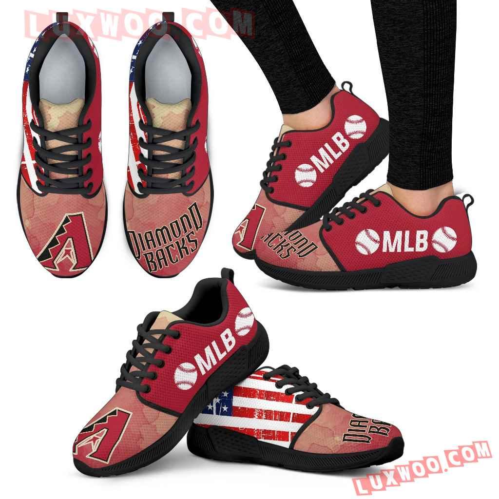Simple Fashion Arizona Diamondbacks Shoes Athletic Sneakers