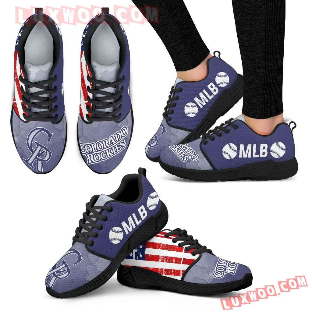 Simple Fashion Colorado Rockies Shoes Athletic Sneakers