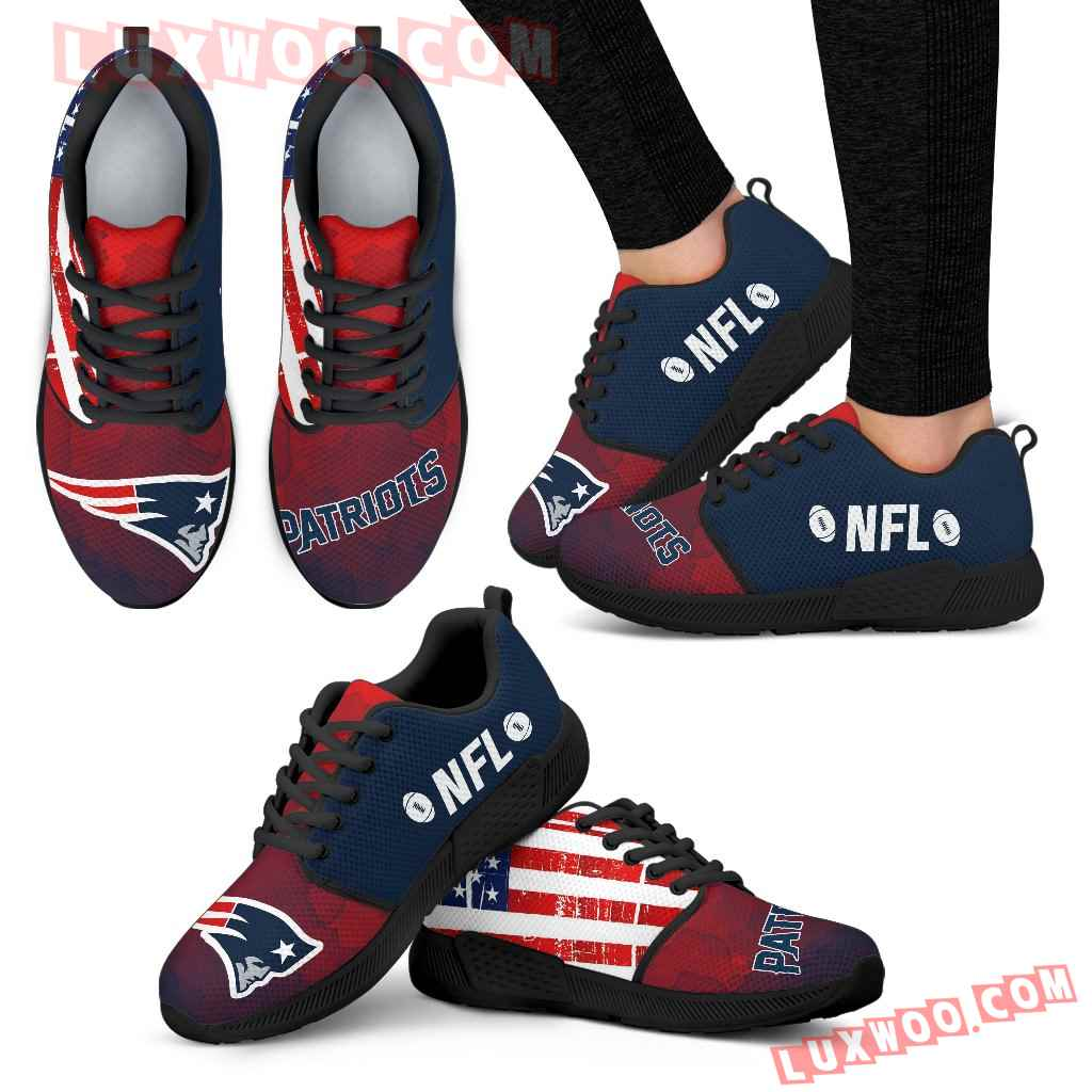 Simple Fashion New England Patriots Shoes Athletic Sneakers