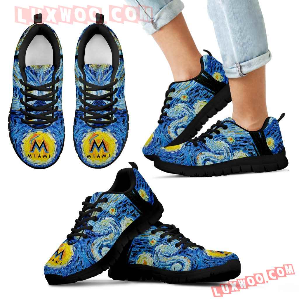 Sky Style Art Nigh Exciting Miami Marlins Sneakers