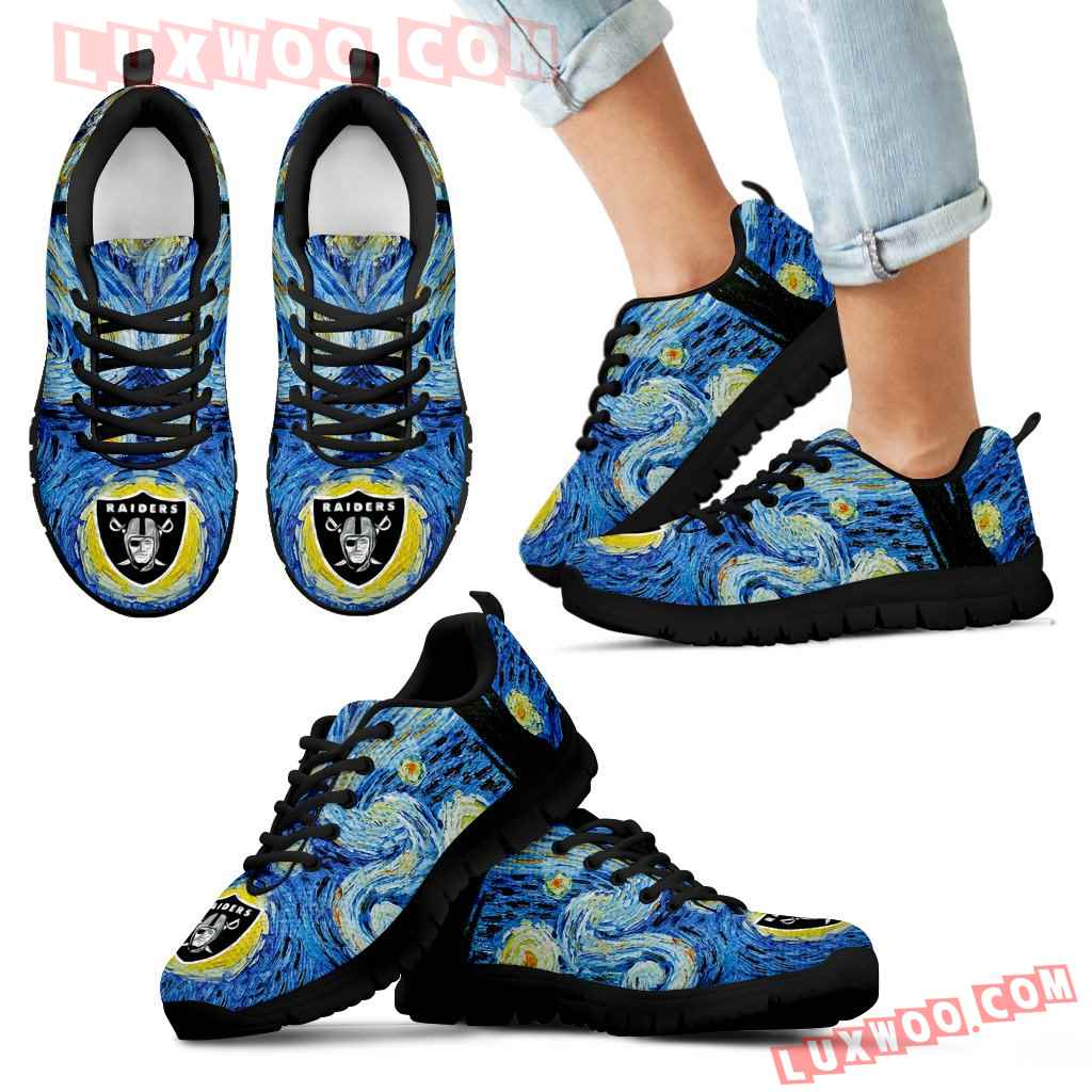 Sky Style Art Nigh Exciting Oakland Raiders Sneakers