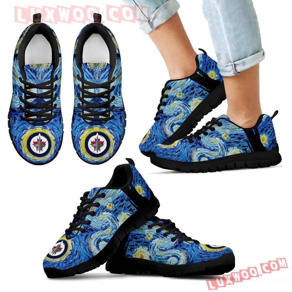 Sky Style Art Nigh Exciting Winnipeg Jets Sneakers