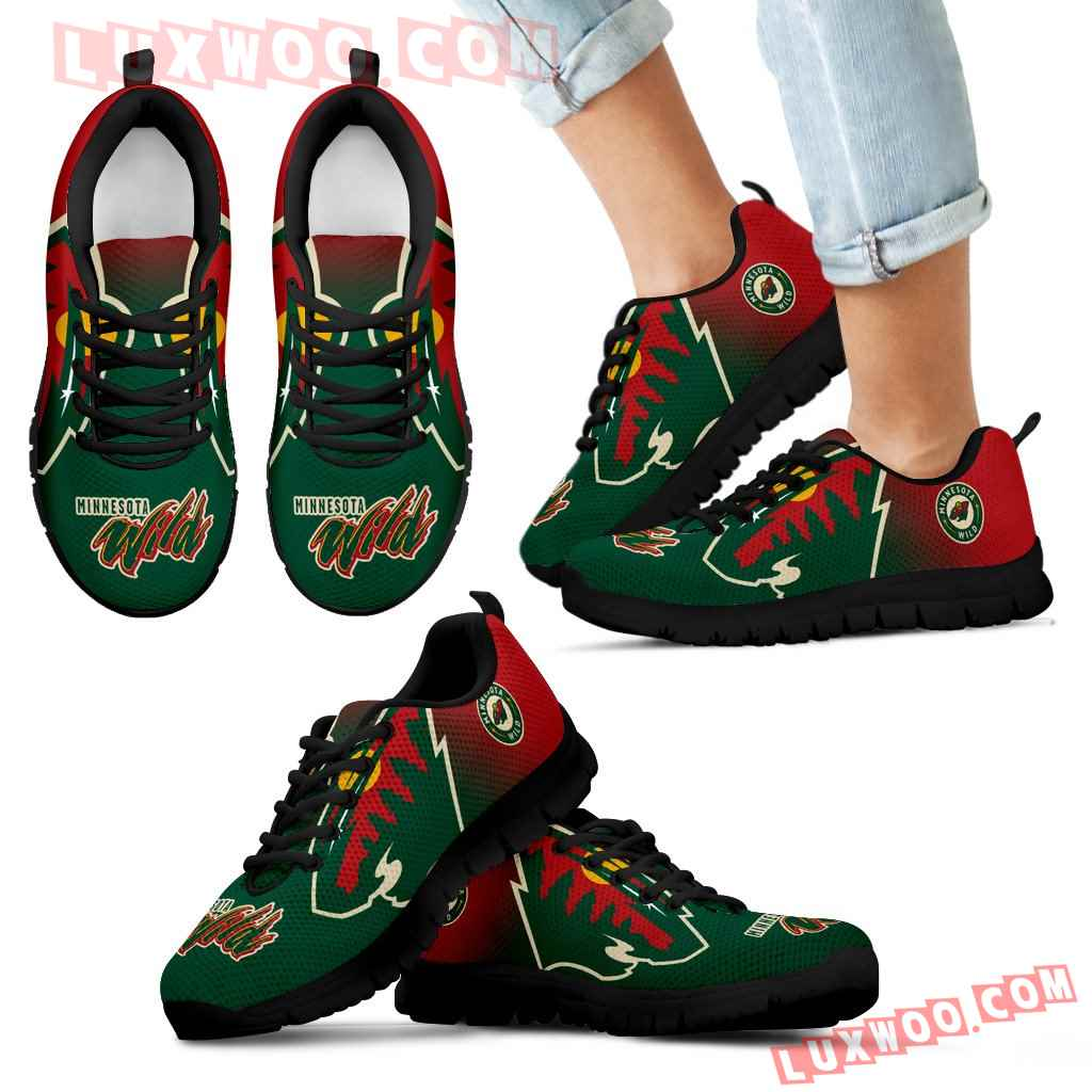 Special Unofficial Minnesota Wild Sneakers
