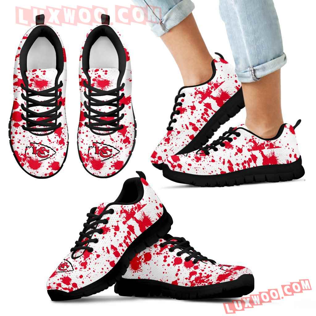 Splatters Watercolor Kansas City Chiefs Sneakers