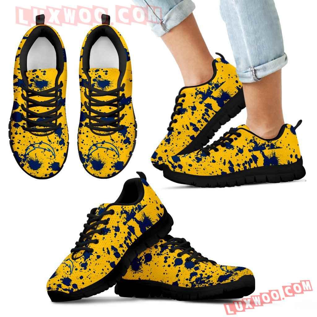 Splatters Watercolor Los Angeles Chargers Sneakers