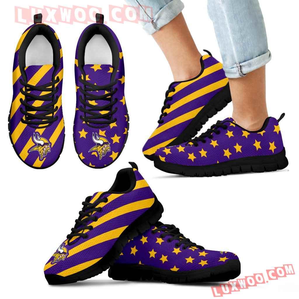 Splendid Star Mix Edge Fabulous Minnesota Vikings Sneakers