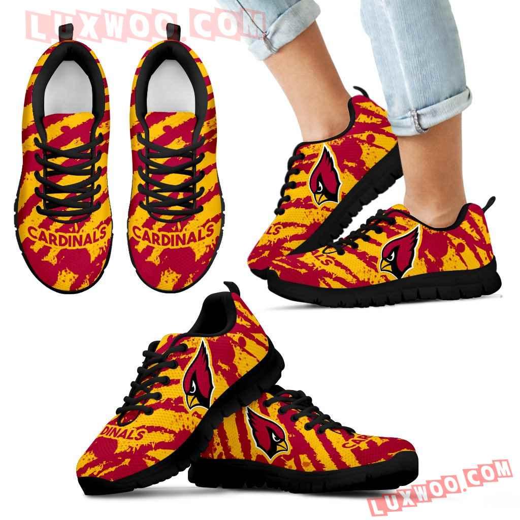Stripes Pattern Print Arizona Cardinals Sneakers