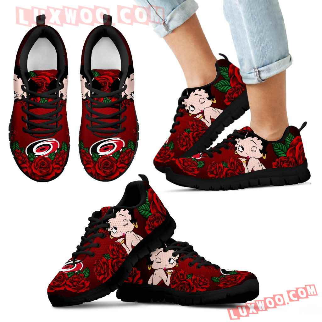Sweet Rose With Betty Boobs For Carolina Hurricanes Sneakers