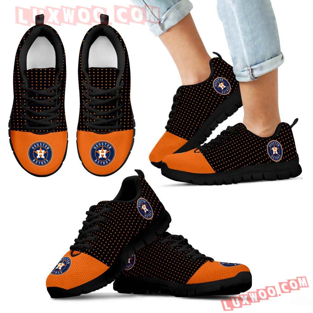 Tiny Cool Dots Background Mix Lovely Logo Houston Astros Sneakers