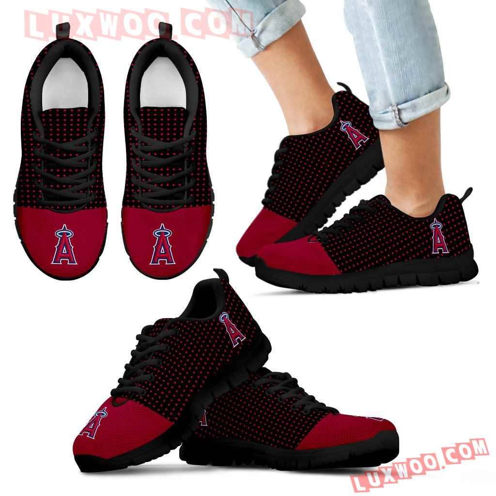Tiny Cool Dots Background Mix Lovely Logo Los Angeles Angels Sneakers