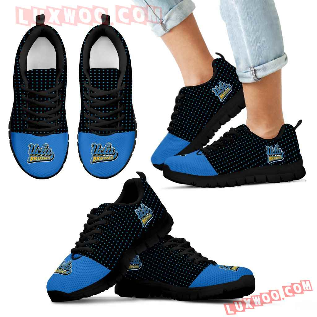Tiny Cool Dots Background Mix Lovely Logo Ucla Bruins Sneakers