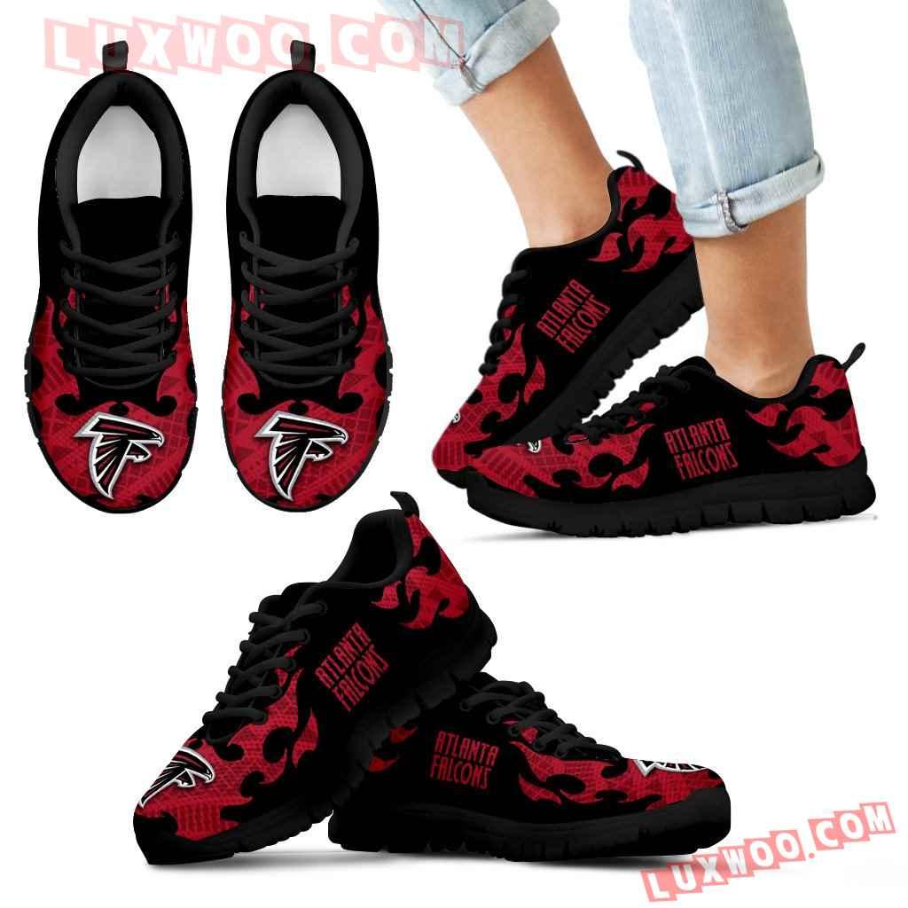 Tribal Flames Pattern Atlanta Falcons Sneakers