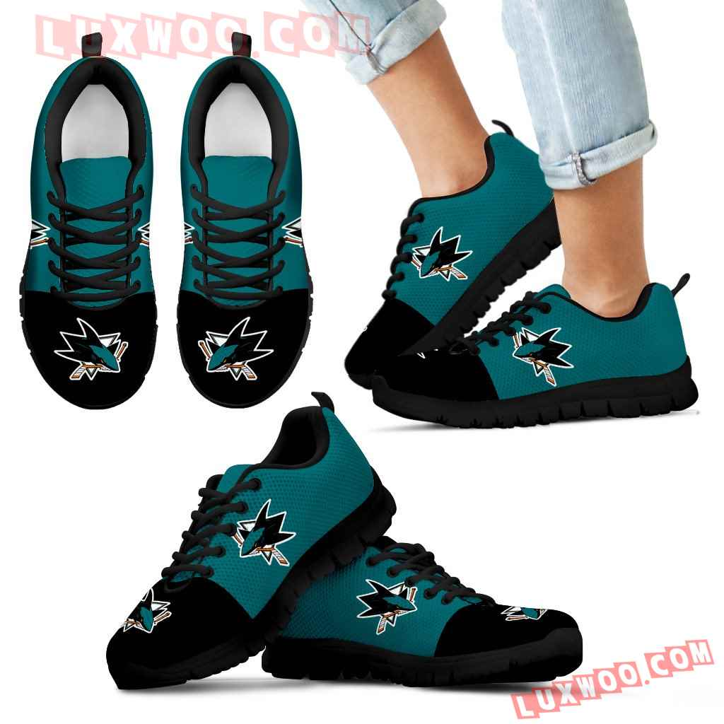 Two Colors Aparted San Jose Sharks Sneakers