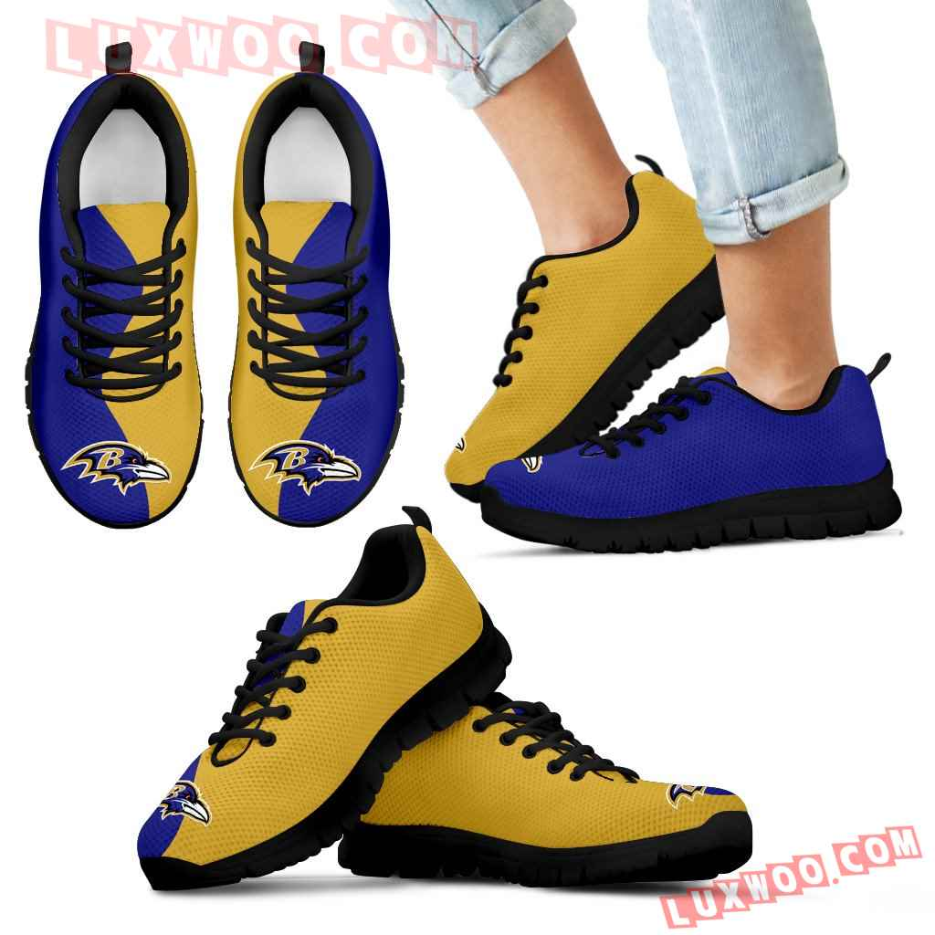 Two Colors Trending Lovely Baltimore Ravens Sneakers