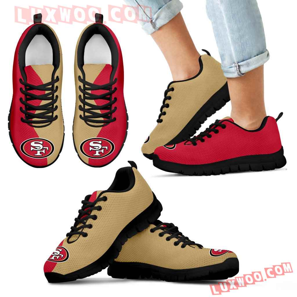 Two Colors Trending Lovely San Francisco 49ers Sneakers