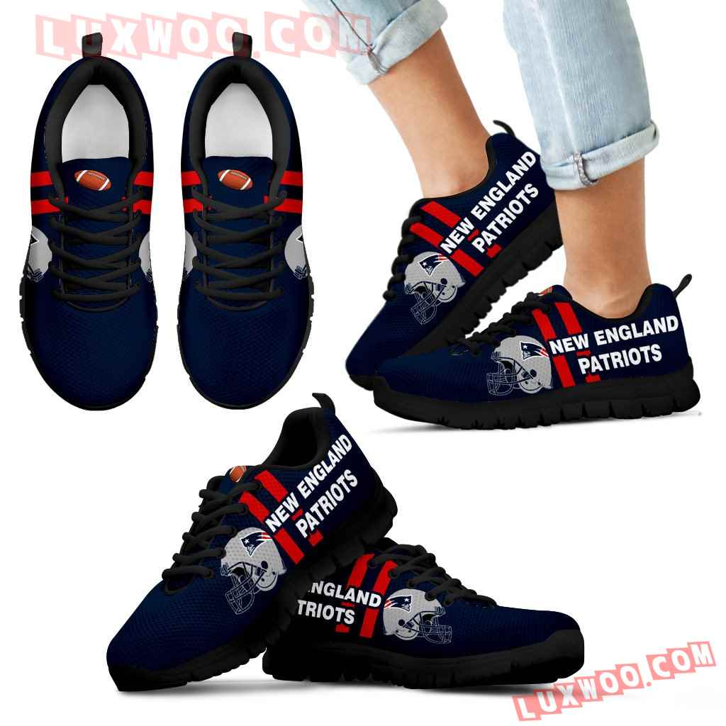 Vertical Two Line Mixed Helmet New England Patriots Sneakers