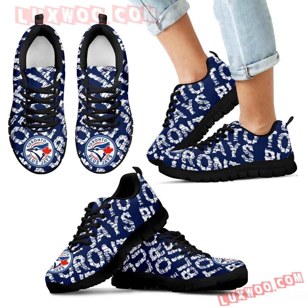Vintage Logo Beautiful Toronto Blue Jays Sneakers V1