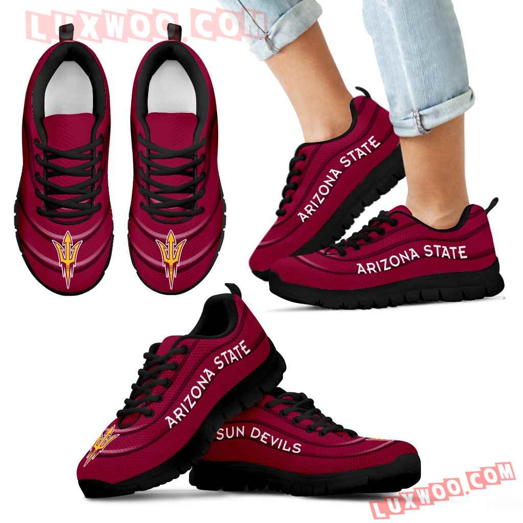Wave Red Floating Pattern Arizona State Sun Devils Sneakers