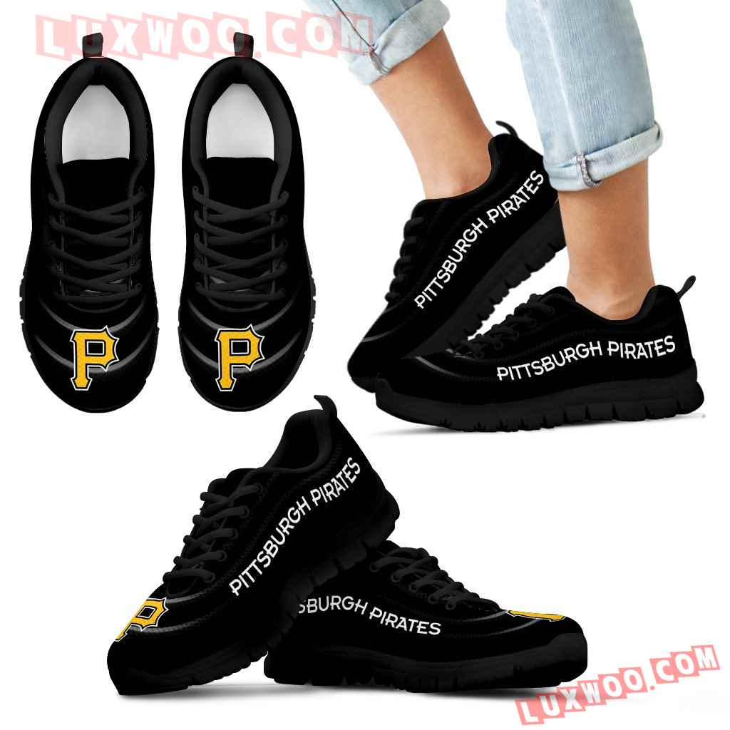 Wave Red Floating Pattern Pittsburgh Pirates Sneakers